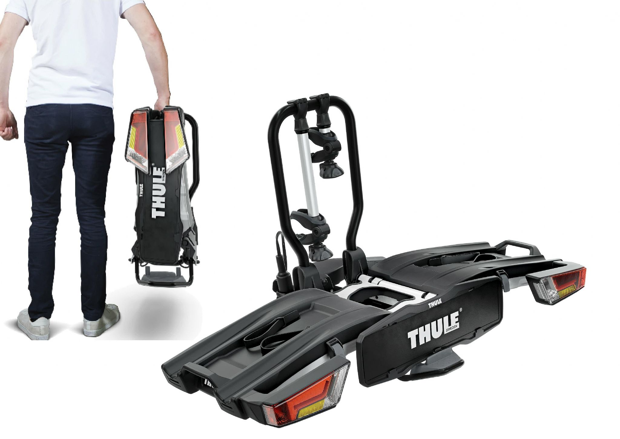 Thule 933 Easyfold 2 Bike Xt Cycle Carrier Rack Tow Bar