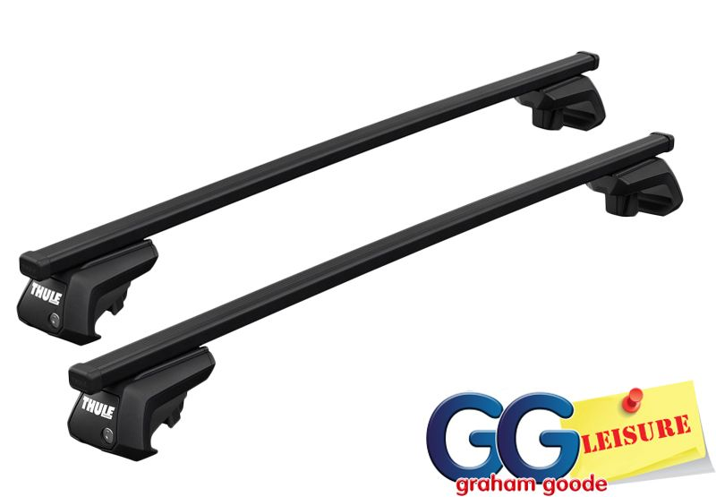 Thule Roof Rack Rail Bars Locking VW Golf Estate 2007- onwards